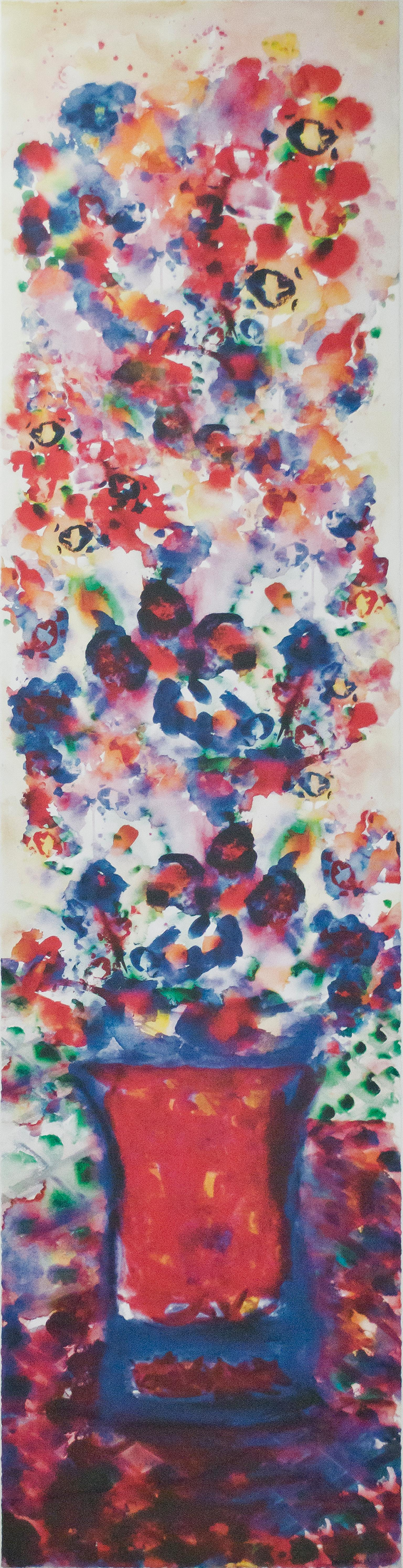 """Morph Dog Fireworks Bouquet,"" Original Print on Paper by David Barnett"