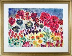 'Tulips, Hybrid, Hibiscus, Crane's Bill & Peonies' artist's proof giclée print