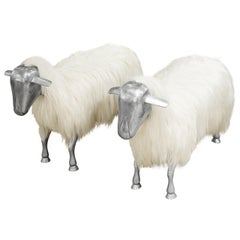 David Barrett Pair of Sheep Benches, 1970s