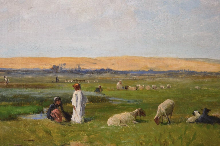 19th Century North African landscape oil painting For Sale 1
