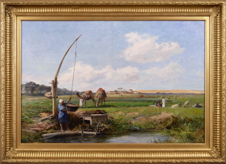 David Bates b.1840 Landscape Painting - 19th Century North African landscape oil painting