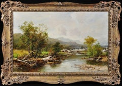 A Village in Mid-Wales. Original Landscape Painting. Royal Worcester Apprentice.