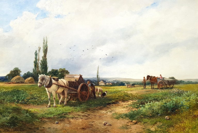 Loading the Crop - Painting by David Bates b.1840