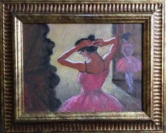 Ballet School Impressionist Oil Painting, Signed