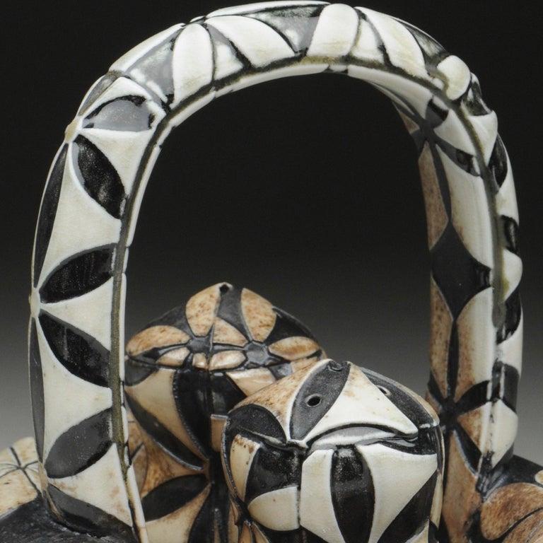 Title : Flower Salt & Pepper Materials : wood-fired porcelain Date : 2017 Dimensions : 6.5x7x5.5