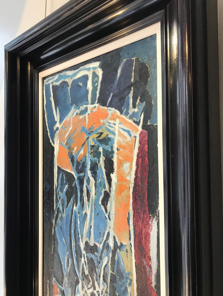 Figure Composition (Stable Interior Series) - David Bomberg, Modern, British For Sale 2