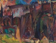 The Moor's Bridge, Ronda - 20th Century, Oil on canvas by David Bomberg