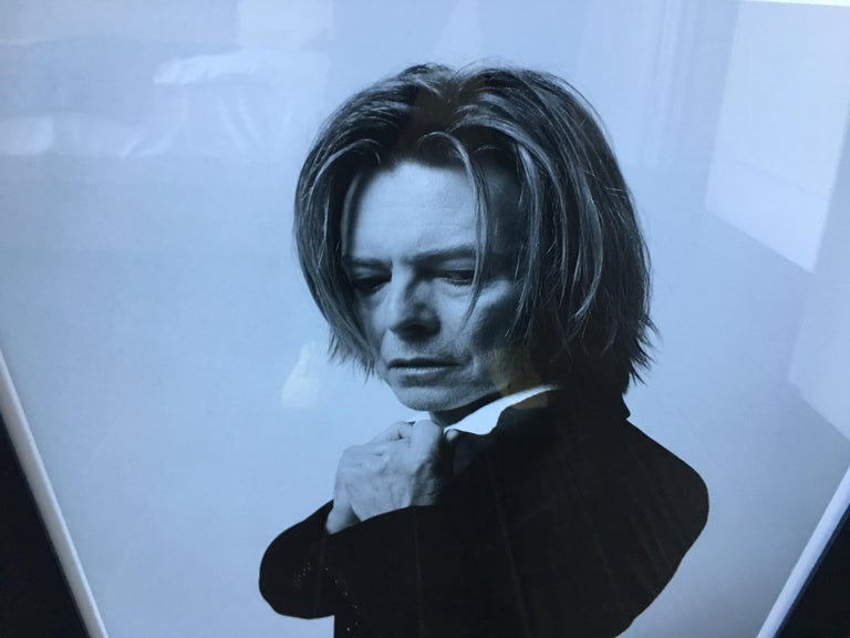 Exceptional photograph of David Bowie by Mick Rock, hand signed and numbered.