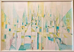 """""""CITY OF DREAMS""""  Mid Century Modern TEXAS CITYSCAPE FORT WORTH MCM MODERNIST"""