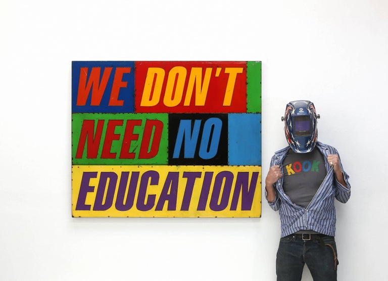 We Don't Need No Education - Sculpture by David Buckingham