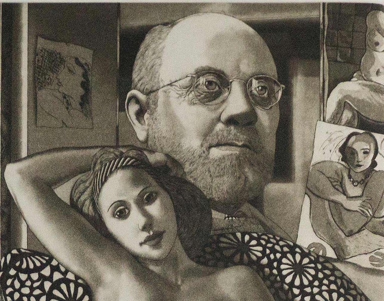 For Matisse (Henri Matisse surrounded by his imagery and iconography) - Print by David Bumbeck