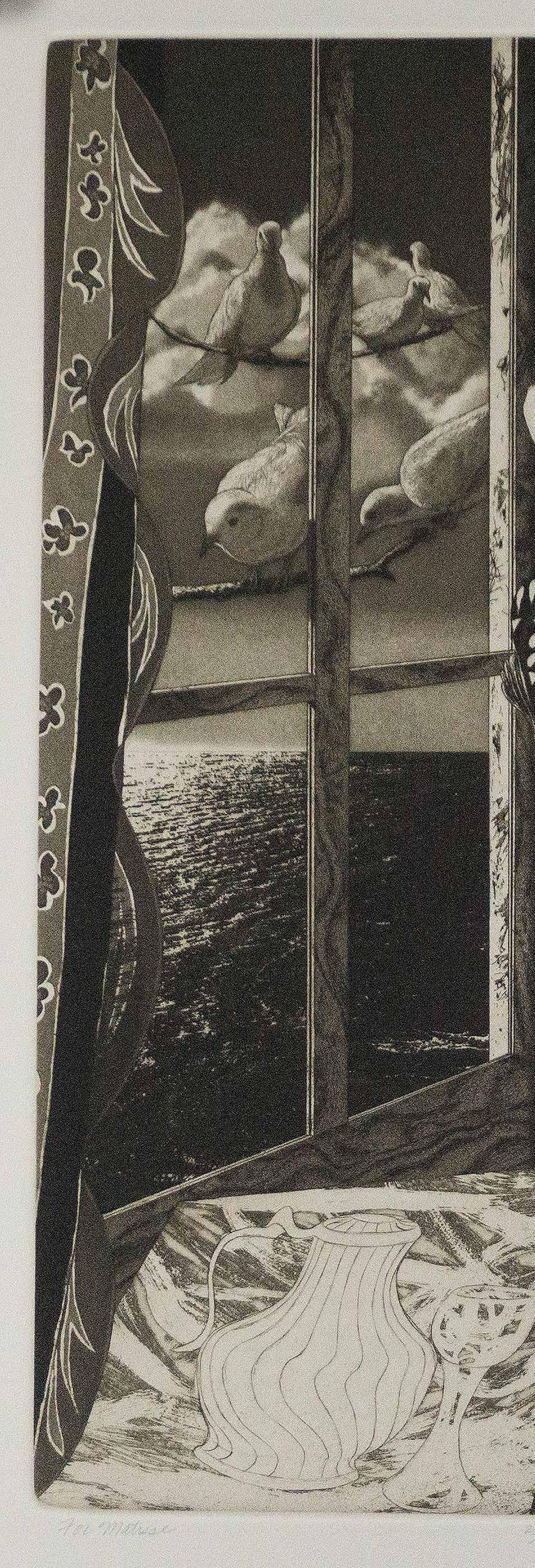 For Matisse (Henri Matisse surrounded by his imagery and iconography) - Black Nude Print by David Bumbeck