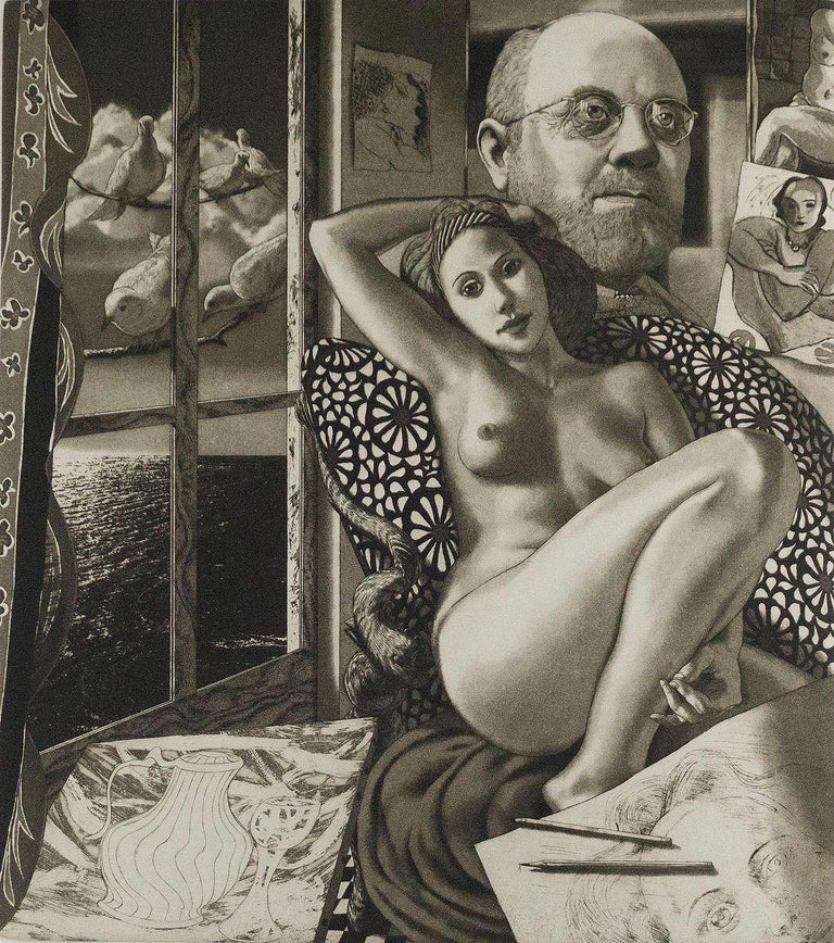 David Bumbeck Nude Print - For Matisse (Henri Matisse surrounded by his imagery and iconography)