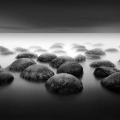 Bowling Ball Beach - Black and White - Nature Photography - Contemplative