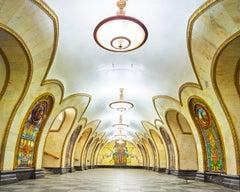 Novoslobodskaya Metro Station, Moscow, Russia