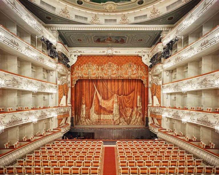 David Burdeny Interior Print - Mikhailovsky Theatre Curtain, St Petersburg, Russia, 2014