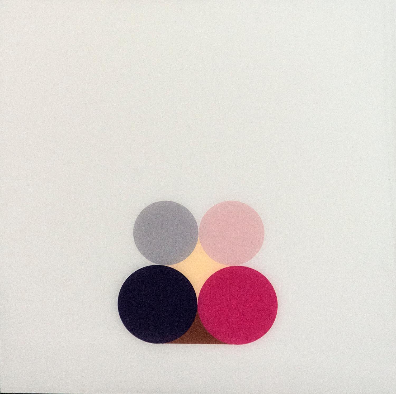 Violet Still Life 3 - bright, geometric post-minimalist, acrylic on plexiglass