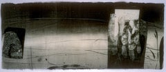 Contrails and Slipstream 36, Black and White, Horizontal Abstract Monotype