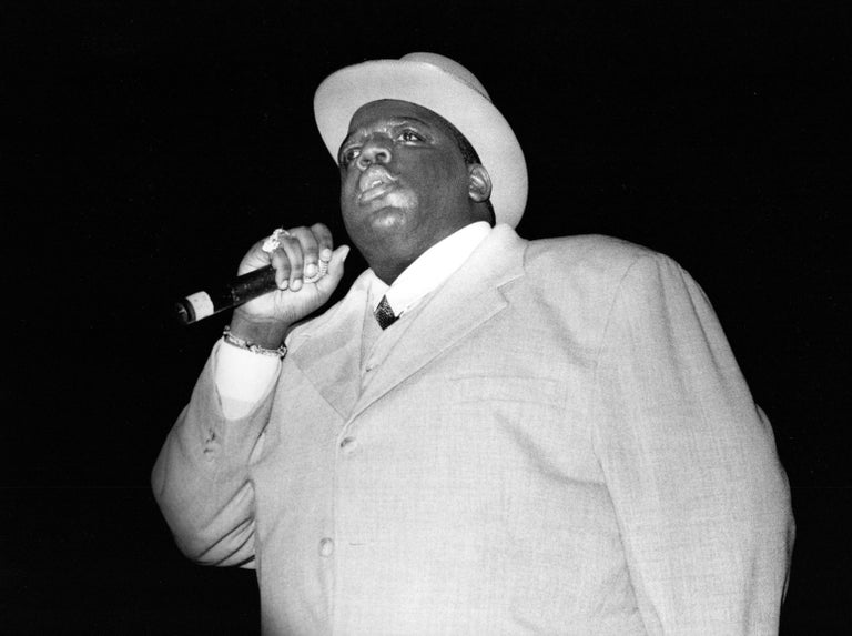 David Corio Portrait Photograph - Notorious B.I.G. Performing III Vintage Original Photograph