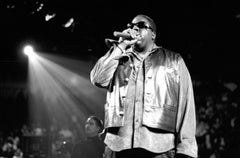 Notorious B.I.G. Performing on Stage with Mic II Vintage Original Photograph