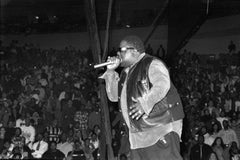 Notorious B.I.G. Performing on Stage with Mic Vintage Original Photograph
