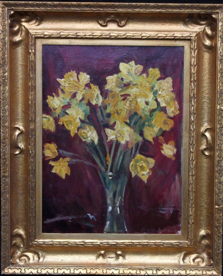 David Cowan Dobson Daffodils Art Deco Stil Life Floral Oil
