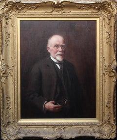 Portrait of Mr R H Sinclair - Scottish 1914 art male portrait oil painting