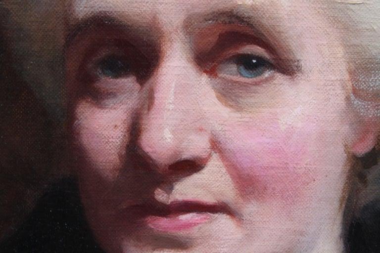 Portrait of Mrs R H Sinclair - Scottish 1914 art female portrait oil painting For Sale 1