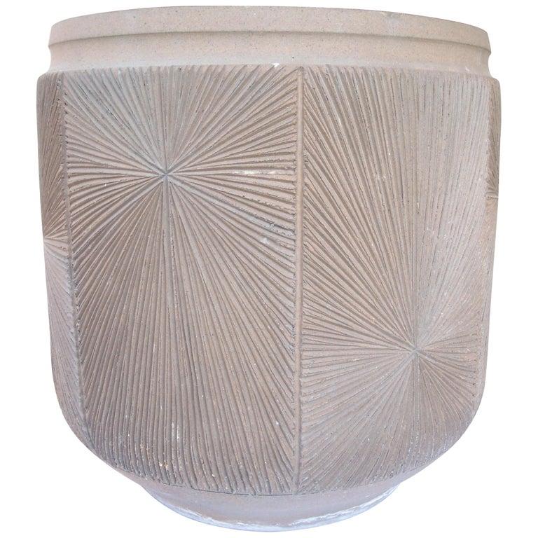 David Cressey and Robert Maxwell Large Planter, Pot, Earthgender Vessel Sunburst For Sale
