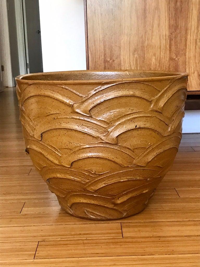 Mid-Century Modern David Cressey Studio Pottery Pro Artisan Planter, 1960s For Sale