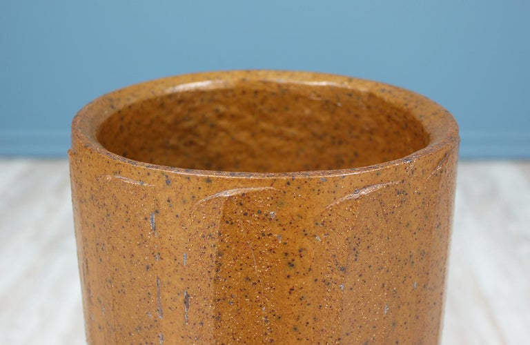 Late 20th Century David Cressey Ceramic Ribbed Planter for Architectural Pottery For Sale