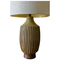 David Cressey Drip Glaze Ceramic Table Lamp, circa 1970