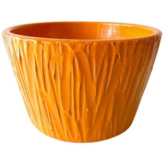 David Cressey For Architectural Pottery  Orange Textured Planter