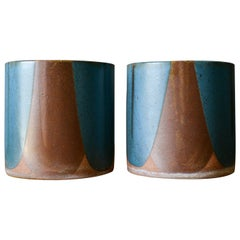 David Cressey for Architectural Pottery Pro/Artisan Blue Flame Glaze Planters