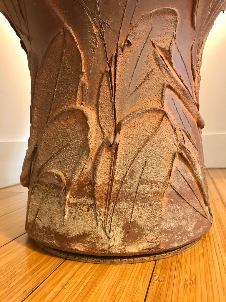 Fired David Cressey Large Pro Artisan 'Expressive' Planter, 1960s For Sale