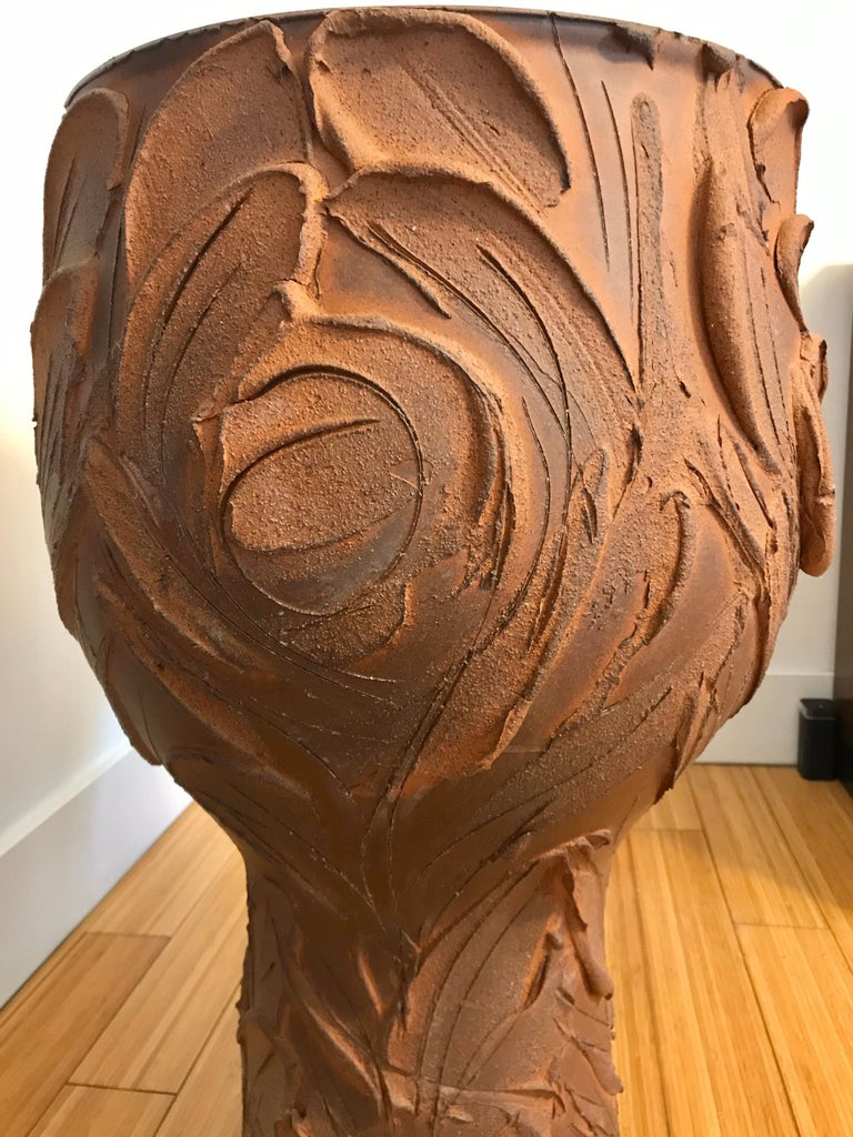 David Cressey Large Pro Artisan 'Expressive' Planter, 1960s In Good Condition For Sale In Los Angeles, CA
