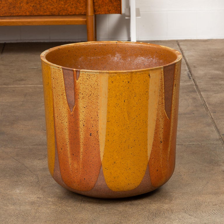 Mid-Century Modern David Cressey LT-24 Flame-Glazed Planter for Architectural Pottery For Sale