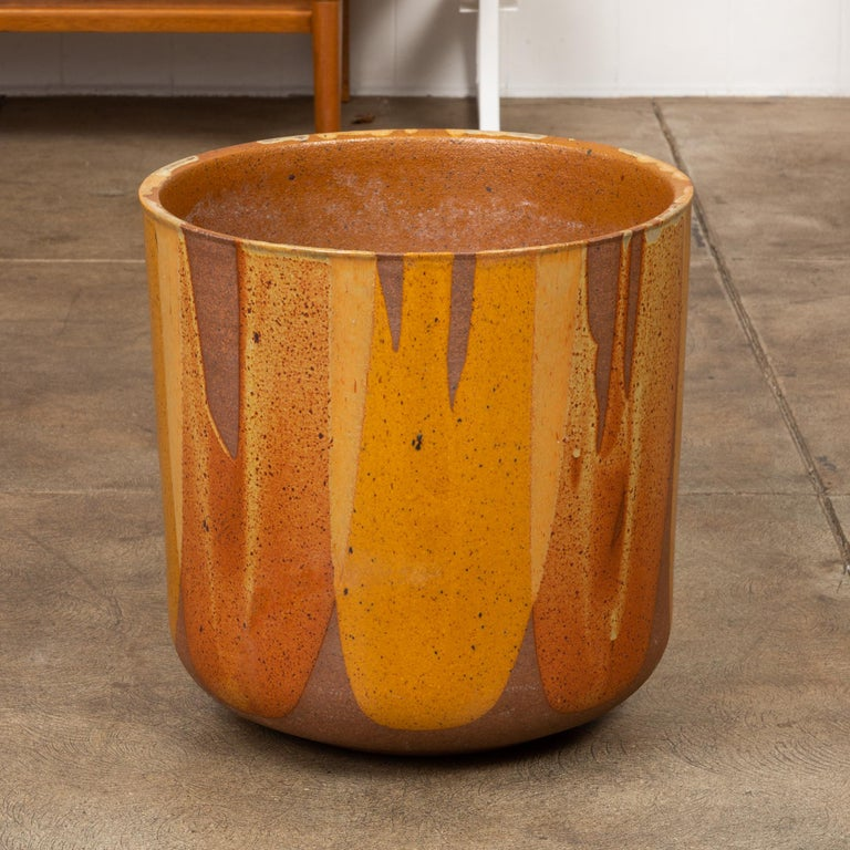 American David Cressey LT-24 Flame-Glazed Planter for Architectural Pottery For Sale