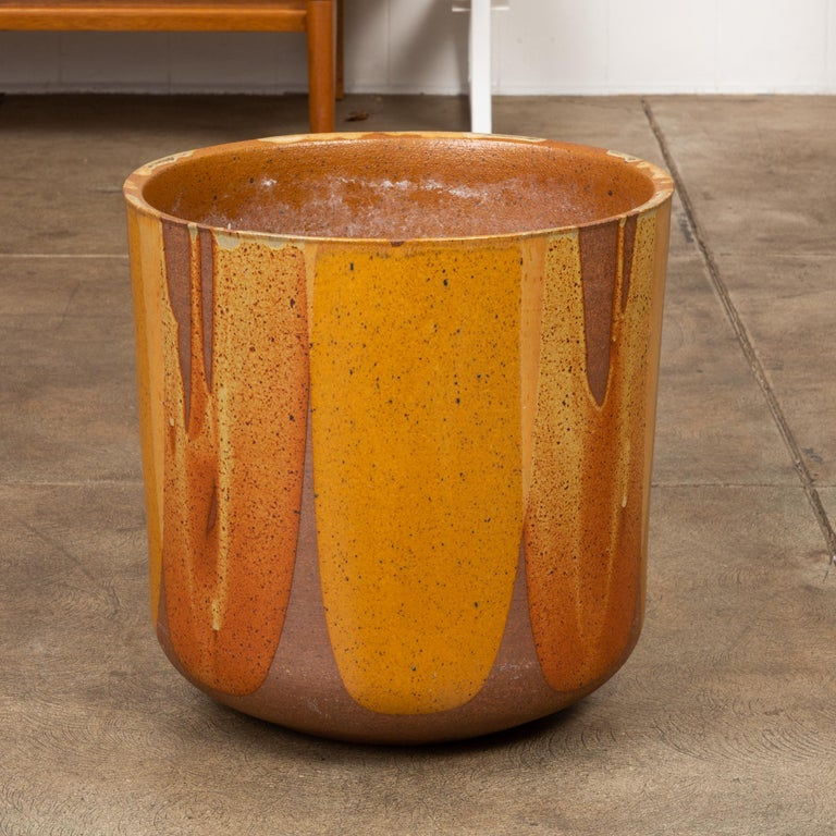 David Cressey LT-24 Flame-Glazed Planter for Architectural Pottery In Good Condition For Sale In Los Angeles, CA