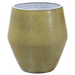Raul Coronel Olive Green Ceramic Planter for Stoneware Designs