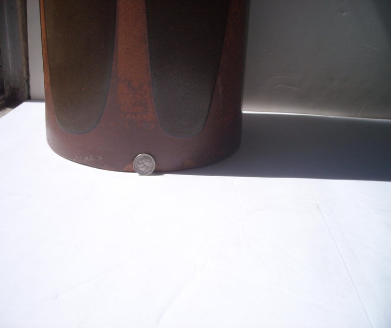 Modern David Cressey Rare Umbrella Stand or Vase, Artisan, Architectural Pottery, Flame For Sale
