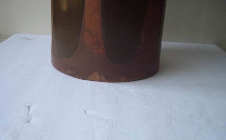David Cressey Rare Umbrella Stand or Vase, Artisan, Architectural Pottery, Flame In Good Condition For Sale In Los Angeles, CA