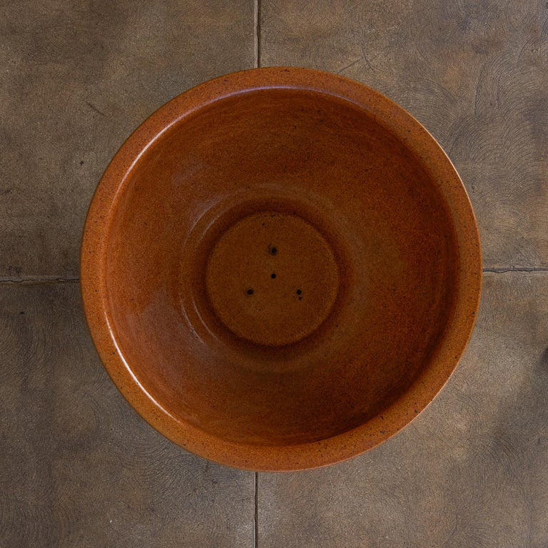 """David Cressey & Robert Maxwell for Earthgender """"Thumbprint"""" Bowl Planter In Excellent Condition For Sale In Los Angeles, CA"""