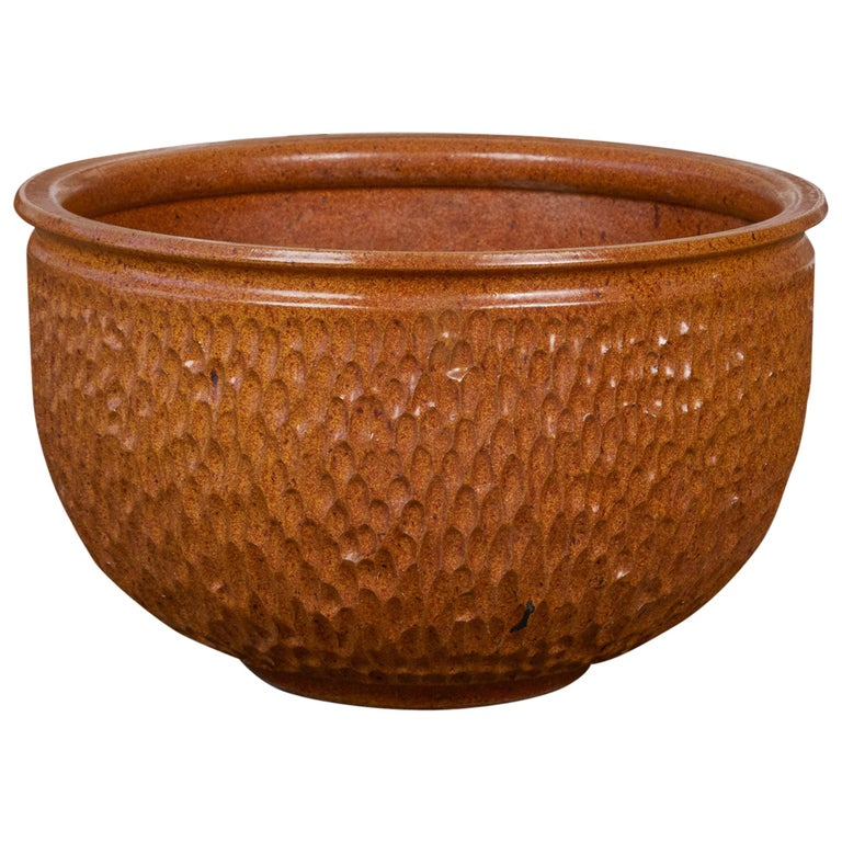 "David Cressey & Robert Maxwell for Earthgender ""Thumbprint"" Bowl Planter For Sale"