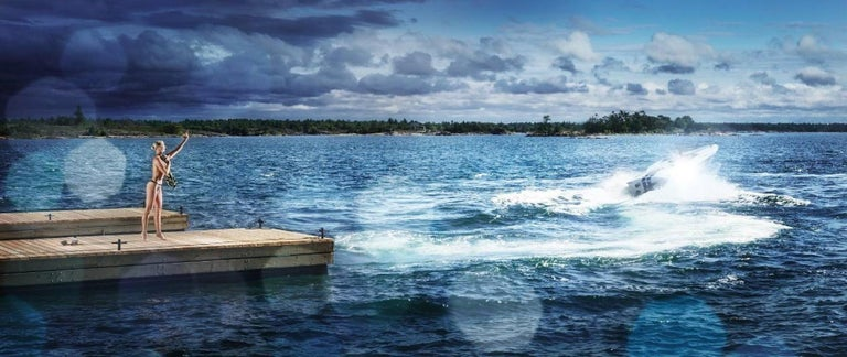 David Drebin Landscape Photograph - Speeding Away