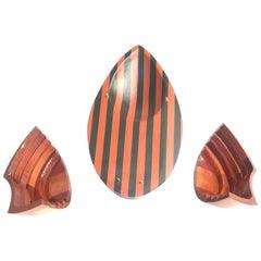 David E. Davis Organic Form Wooden Egg Sculpture
