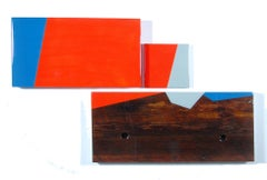 Puzzle 96, David E. Peterson, Contemporary Colorful Wooden Wall Sculpture