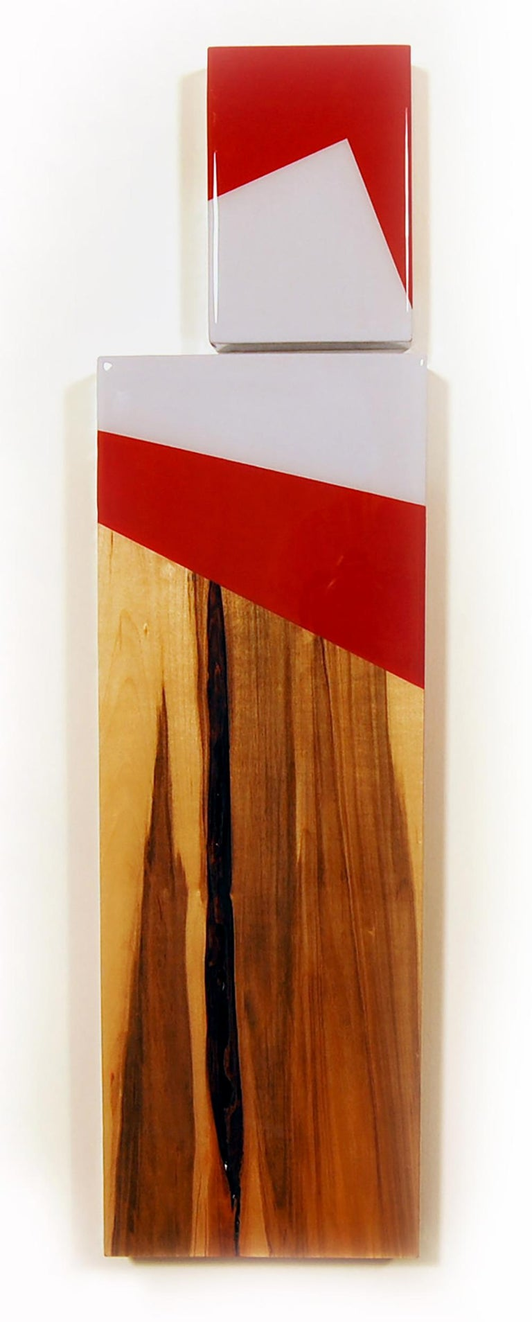 Puzzle 97, David E. Peterson, Contemporary Colorful Wooden Wall Sculpture - Mixed Media Art by David E. Peterson