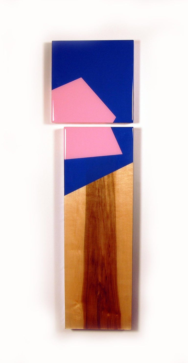 Puzzle 98, David E. Peterson, Contemporary Colorful Wooden Wall Sculpture - Painting by David E. Peterson