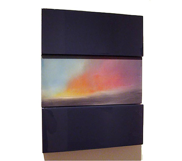 Sunrise Rincon PR David E. Peterson, Contemporary Colorful Wooden Wall Sculpture - Painting by David E. Peterson